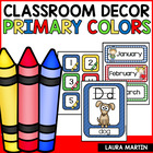 Classroom Decor and More! Primary Colors