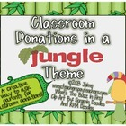 Classroom Donations Jungle Theme {A Creative Way to Ask fo