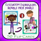 Classroom Energizers Double Pack - 50 Movement Flip Cards
