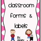 Classroom Forms &amp; Labels