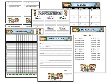 Classroom Forms and Substitute Info. - Explorer Kids Theme
