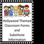 Classroom Forms and Substitute Information - Hollywood Theme