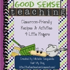 Classroom Friendly Recipes & Activities 4 Little Fingers