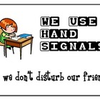 Classroom Hand Signals with Images