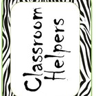 Classroom Helpers: Jungle/ Zebra print themed bulletin