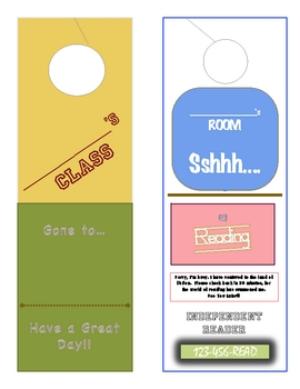 Classroom Idea or Reward- Door Hangers for Class & Student