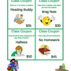 Classroom Incentive Reward Coupons