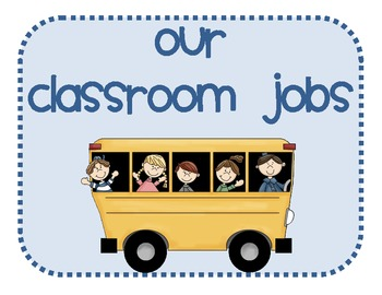 Classroom Job Chart Bulletin Board Set