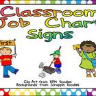 Classroom Job Chart Signs for Primary Classroom- Could Use