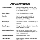 Classroom Job Descriptions