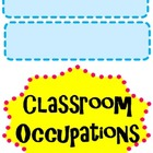Classroom Job (Occupation) Titles for Chart