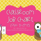 Classroom Jobs Chart! {Owl Themed}