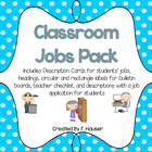 Classroom Jobs Description Cards