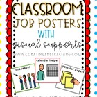 Classroom Jobs Posters- Primary Colors