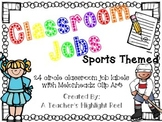 Classroom Jobs - Sports Themed Circle Chalkboards with Mel