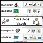 Classroom Jobs Visual Directions and Labels! Set 1!