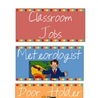Classroom Jobs for Elementary Students