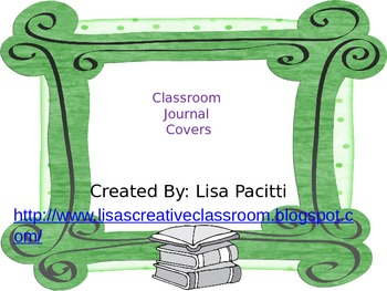 Classroom Journal Labels