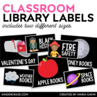 EDITABLE Classroom Library Labels for Bins & Books {Black Series)