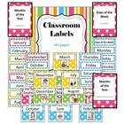 Classroom Labels - 143 pages - Back2School