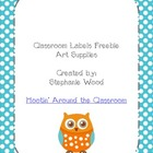 Classroom Labels-Art Supplies-Aqua