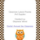 Classroom Labels-Art Supplies-Brown
