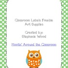 Classroom Labels-Art Supplies-Green