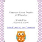 Classroom Labels-Art Supplies-Purple