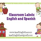 Classroom Labels-English and Spanish