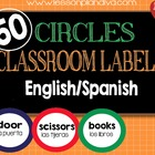Classroom Labels English/Spanish-Circles