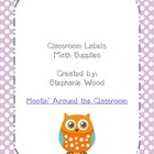 Classroom Labels-Math Supplies-Purple