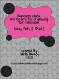 Classroom Labels & Posters for Organizing your Classroom {