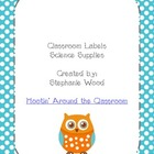 Classroom Labels-Science Supplies-Aqua