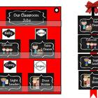 Classroom Leaders Job Cards Chalkboard Theme