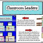Classroom Leaders Job Cards Chevron Pattern