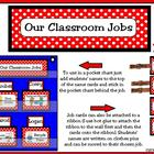Classroom Leaders Job Cards