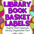 Classroom Library Chapter Book Labels
