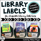 Classroom Library Labels - Black & White Chevron
