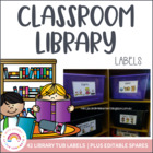 Classroom Library Labels for an Early Years Classroom