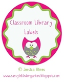 Classroom Library Labels with Dots