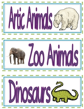 Classroom Library Labels - with Pictures