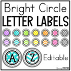 Classroom Library Level Labels (Letters A-X) Bright Polka