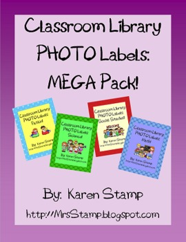 Classroom Library PHOTO Labels:  MEGA Pack!