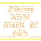 Classroom Lottery Scratch Off Cards