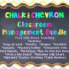 Chalk & Chevron Classroom Management Bundle