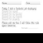 Classroom Management Rule Following Tracing Pages for Prim