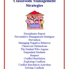 Classroom Management Strategies, Ideas and Suggestions