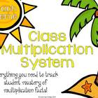 Classroom Multiplication System (Beach)