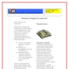Classroom Newsletter to Parents