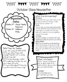 Classroom Newsletter with Calendar (Template)